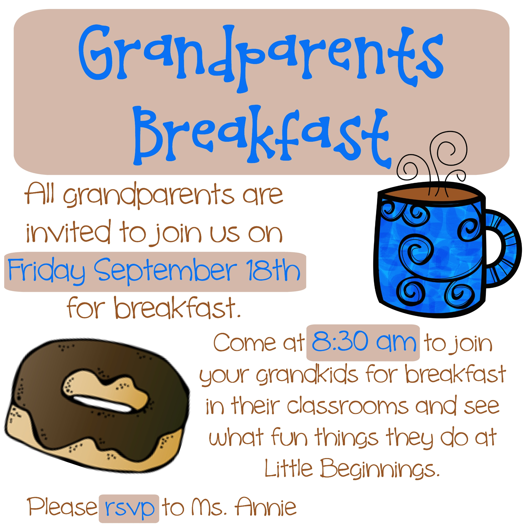 grandparents breakfast clipart - photo #16